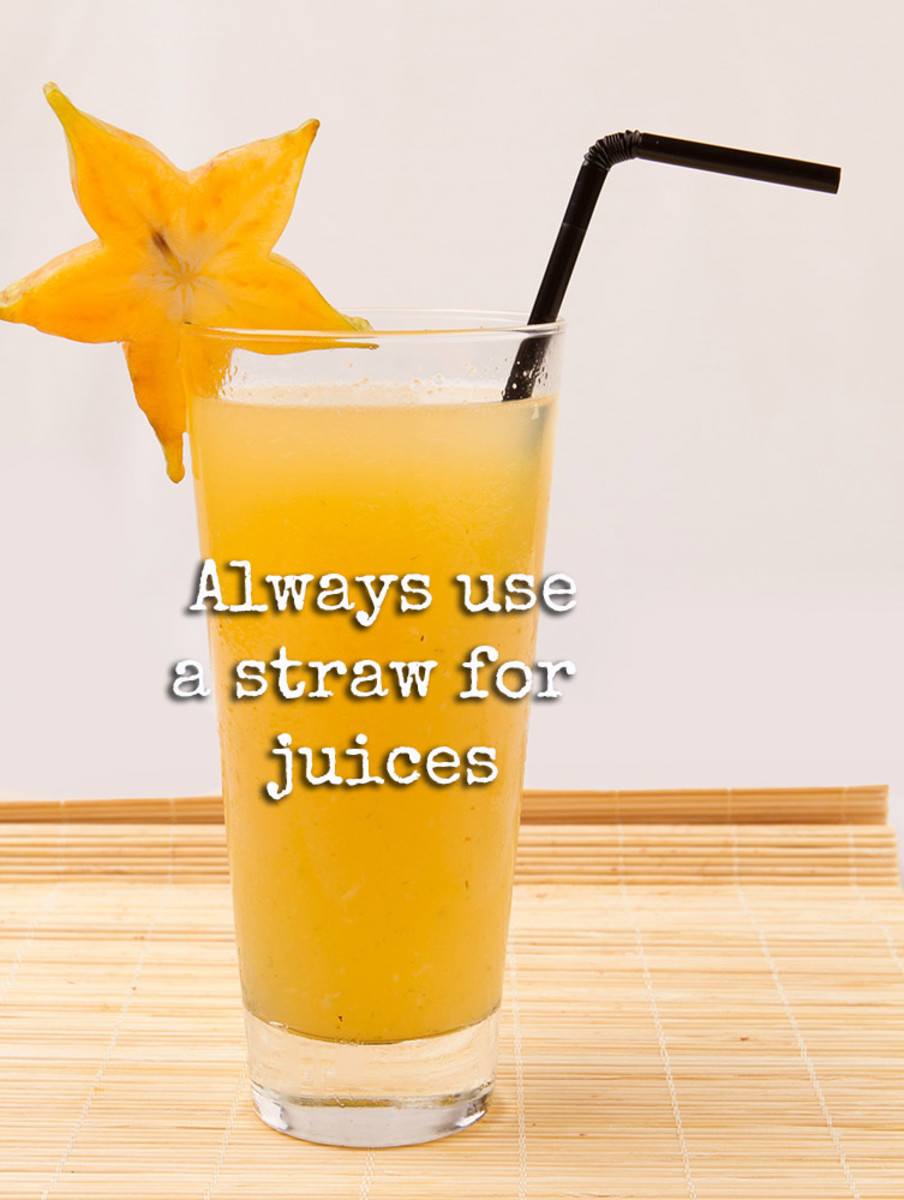 A delicious glass of star fruit juice