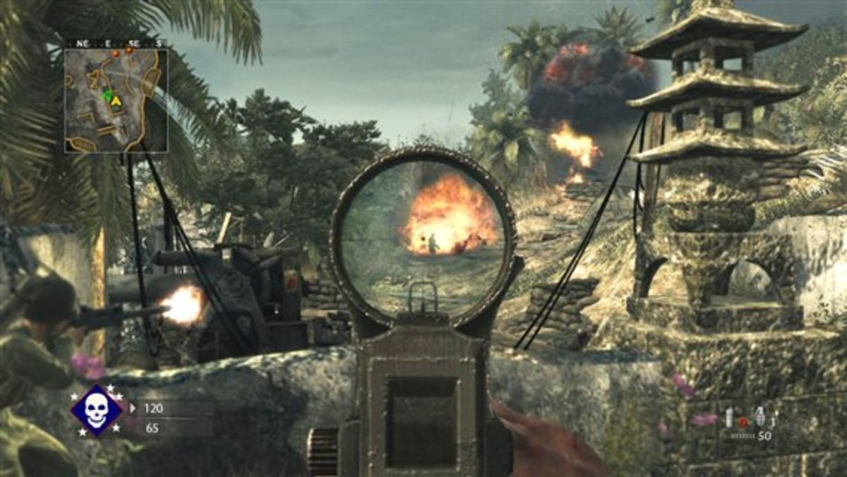 Image screenshot taken from Call of Duty: World at War (COD 2008) - and is important as we now take a look at the following World War 2 (Call of Duty) title developed by Sledgehammer Games, Call of Duty: WWII (COD 2017)
