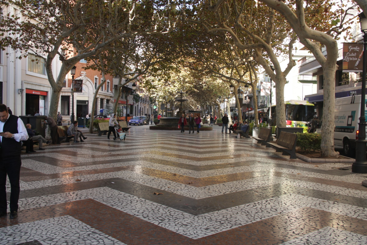 The main Paseo in Gandia