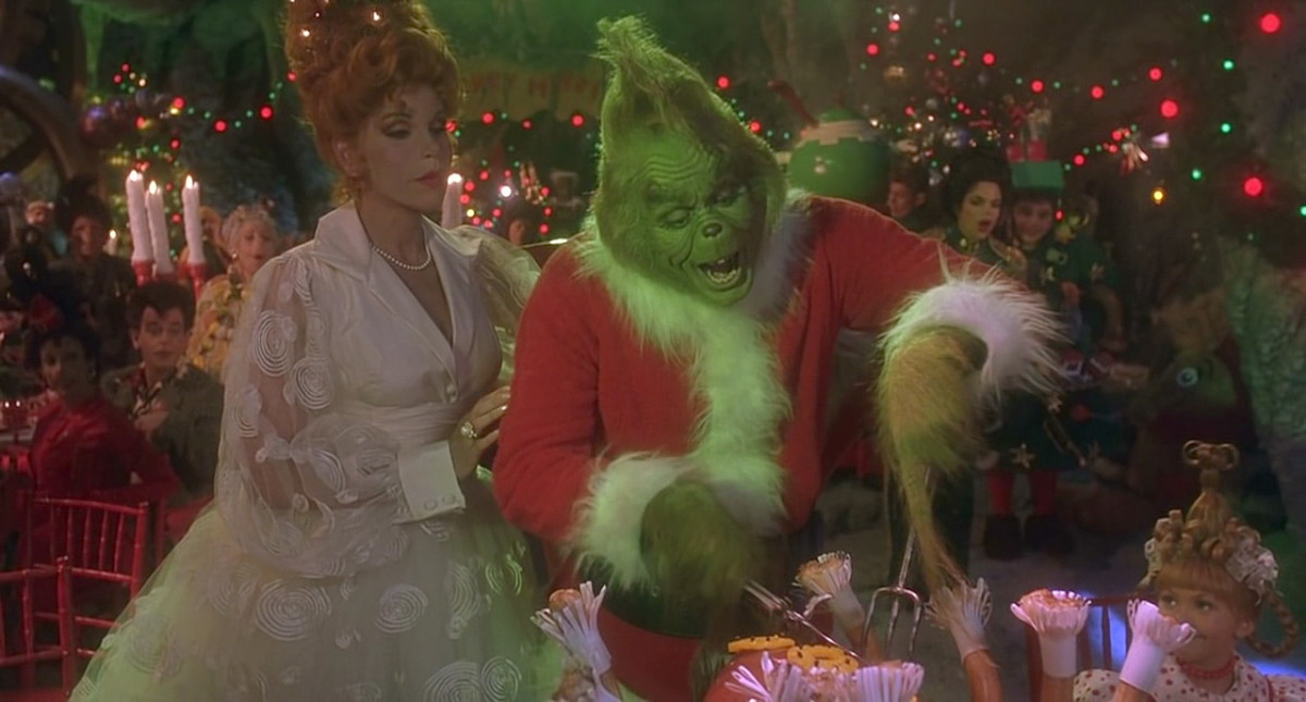Jim Carrey plays the grinch in the popular movie