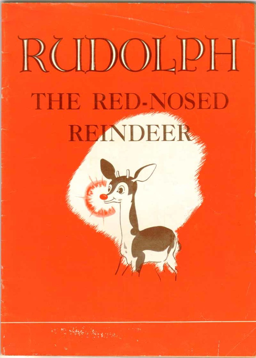 The original Rudolph appeared as a coloring book in 1939