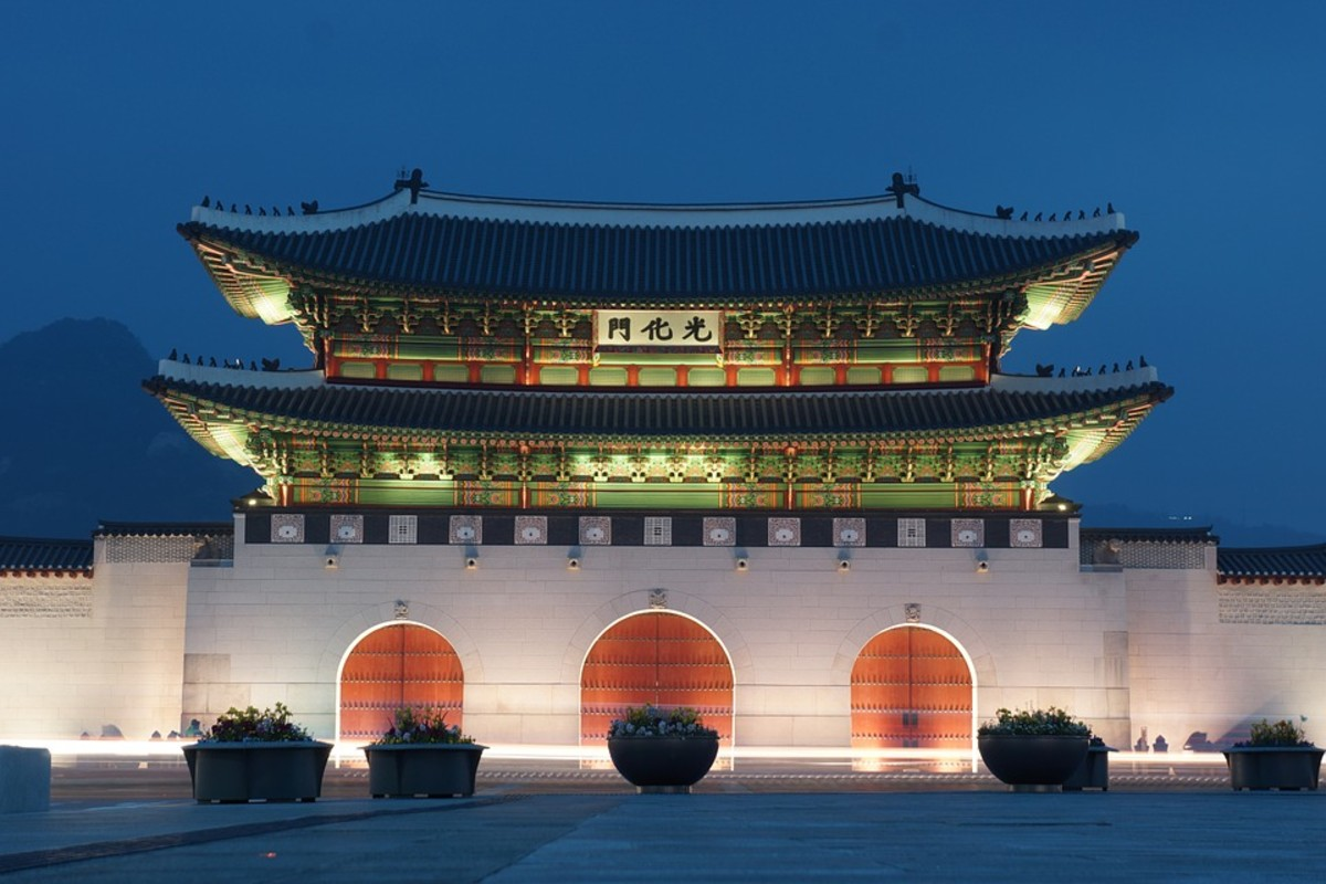 Gwanghwamun square where visitors can explore Seoul's history, traditional architecture and breathtaking scenery