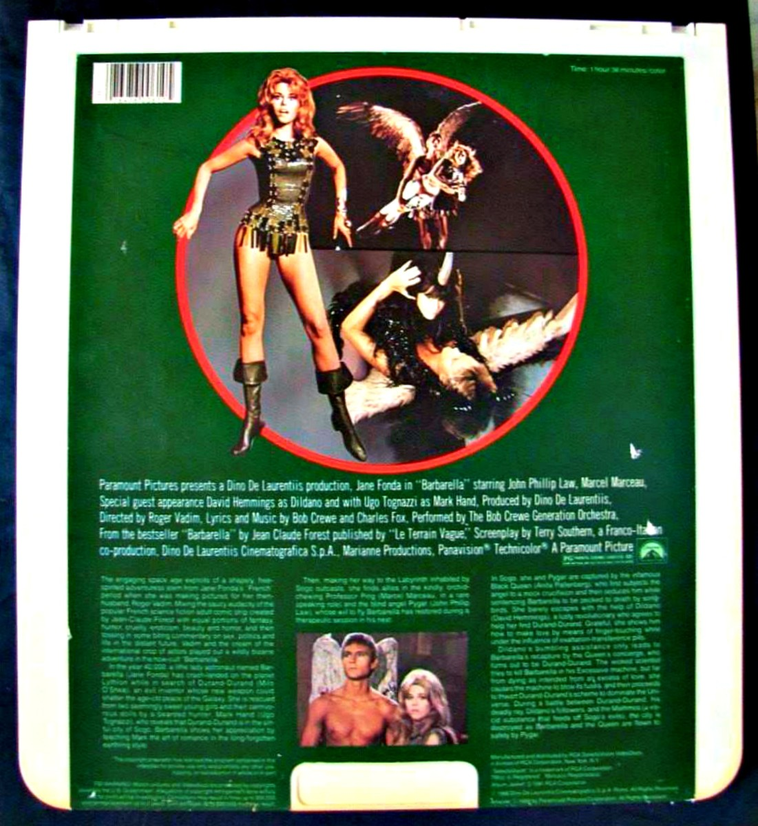 The Backside of the RCA Selectavision Video Disc BARBARELLA
