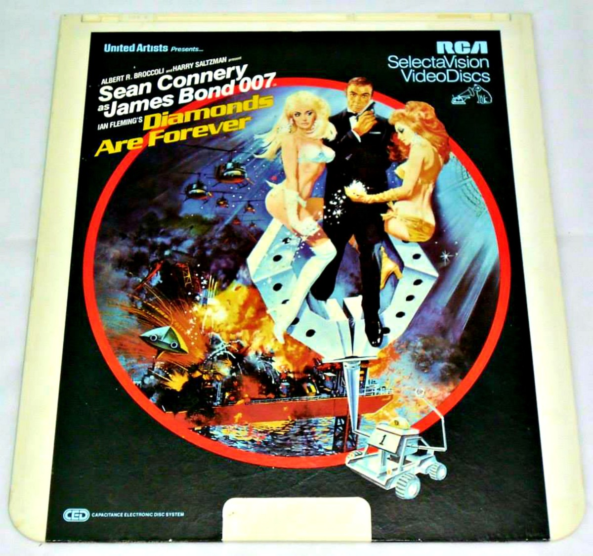 "RCA SelectaVision Disc, James Bond ""Diamonds Are Forever""."