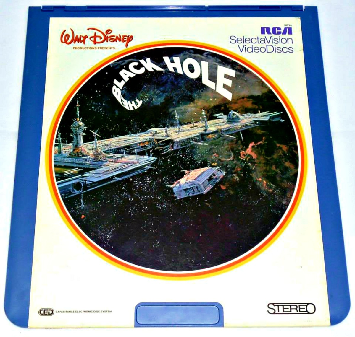 "RCA SelectaVision Walt Disney's ""The Black Hole""  Maximilian Schell as Dr. Hans Reinhardt, Anthony Perkins as Dr. Alex Durant, Robert Forster as Captain Dan Holland, Joseph Bottoms, as Lieutenant Charlie Pizer, and Yvette Mimieux as Dr. Kate McCrae"