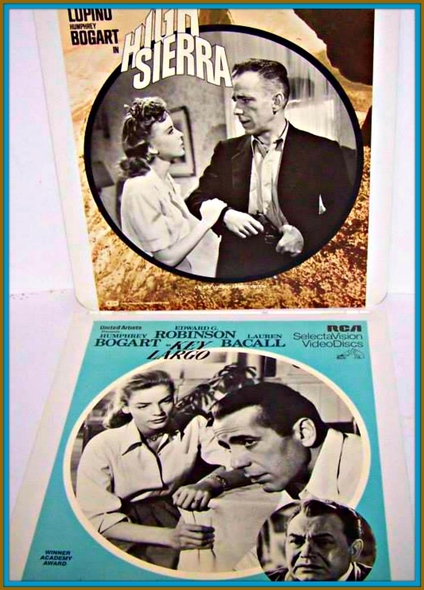 Movie night RCA SelectaVision Key Largo and High Sierra