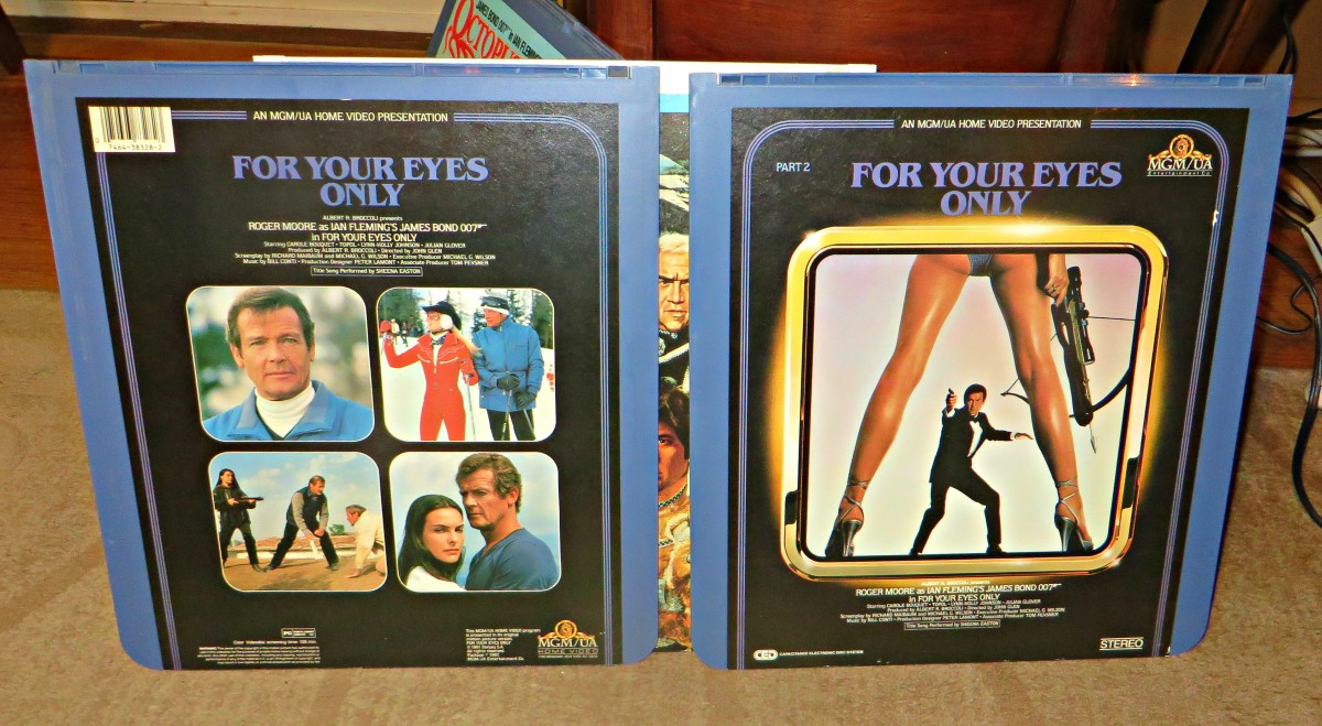 RCA Selectavision CED, For Your Eyes Only, Played on a Zenith Selectavision Player ... Roger Moore is back as Secret Agent 007, this time on the trail of shipwreck. Along the way he teams up with the beautiful Melina, played by Carole Bouquet.