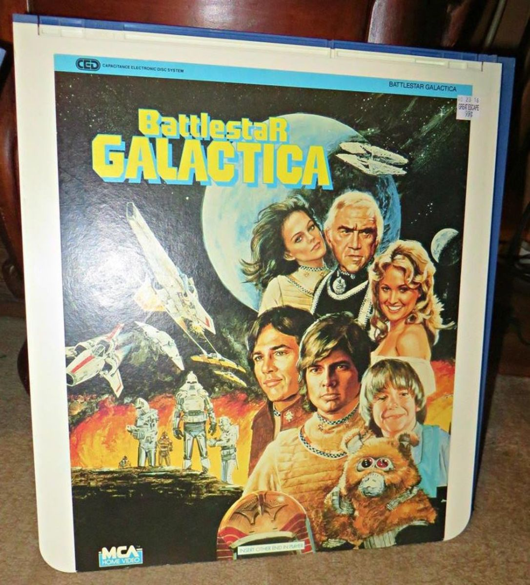 Selectavision CED, Battlestar Galactica is an American science fiction media franchise created by Glen A. Larson. The franchise began with the original television series in 1978 and was followed by a short-run sequel series (Galactica 1980).