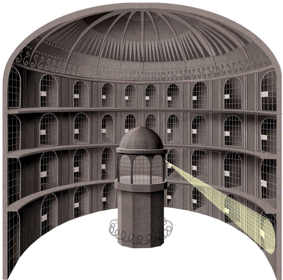 Bentham's dream of control: the Panopticon
