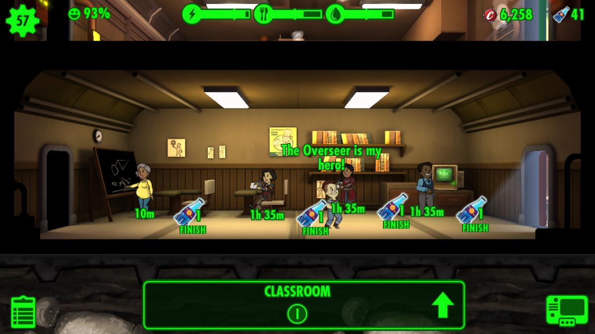 A medium-sized Classroom trains Dwellers in their Intelligence.