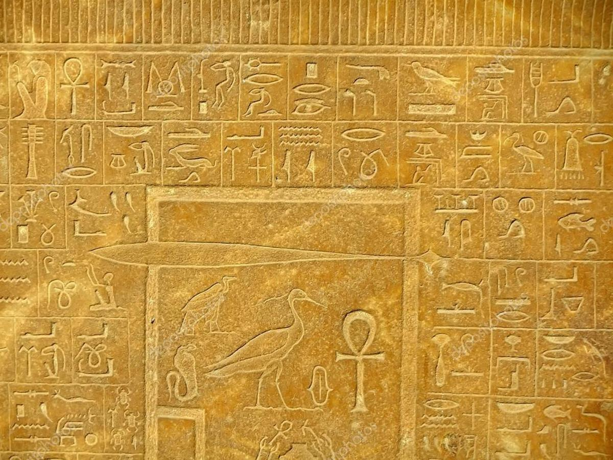 The Right of Passage is symbolized by the wallpaper. This is similar to the purpose of  hieroglyphics in the tombs of ancient Egypt.
