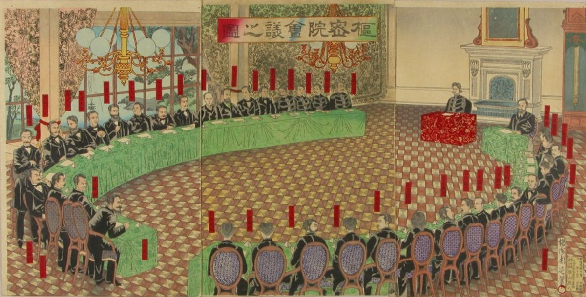 The Privy Council : one of the most important institutions of early Meiji Japan, although later on its influence shrunk.