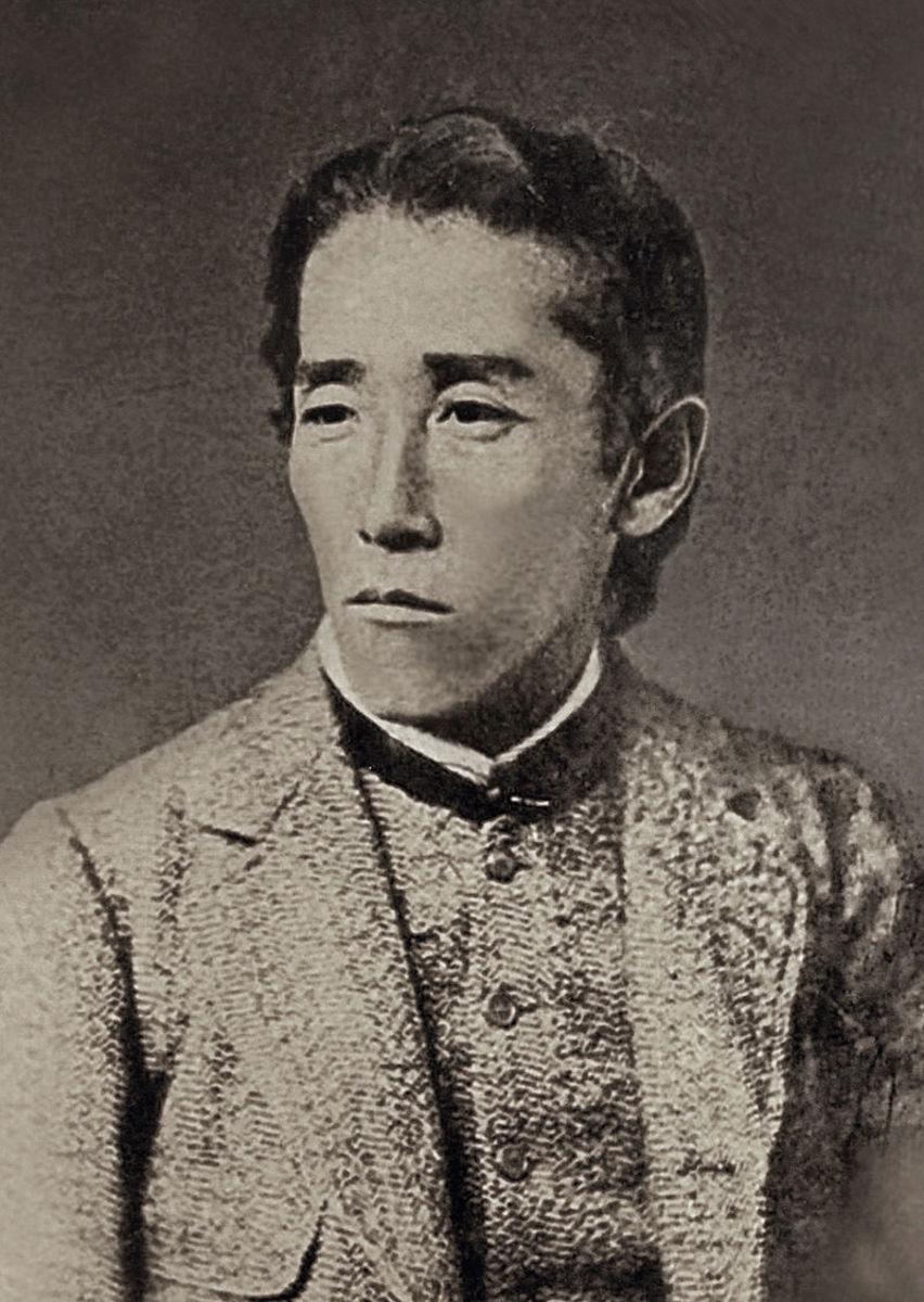 Itagaki Taisuke around 1880 : he had a quite magnificent beard later on.