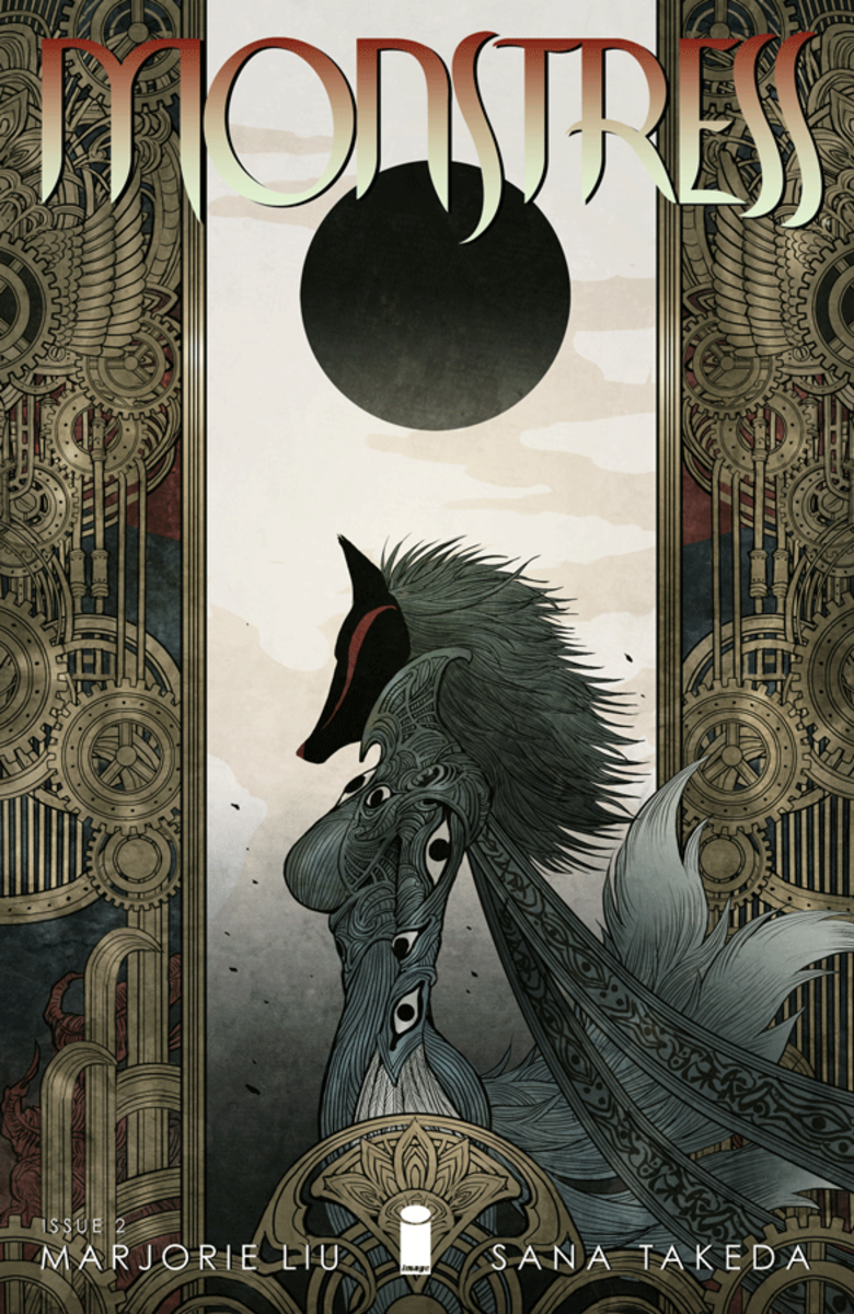 Cover of the second issue of Monstress, art by Sana Takeda.