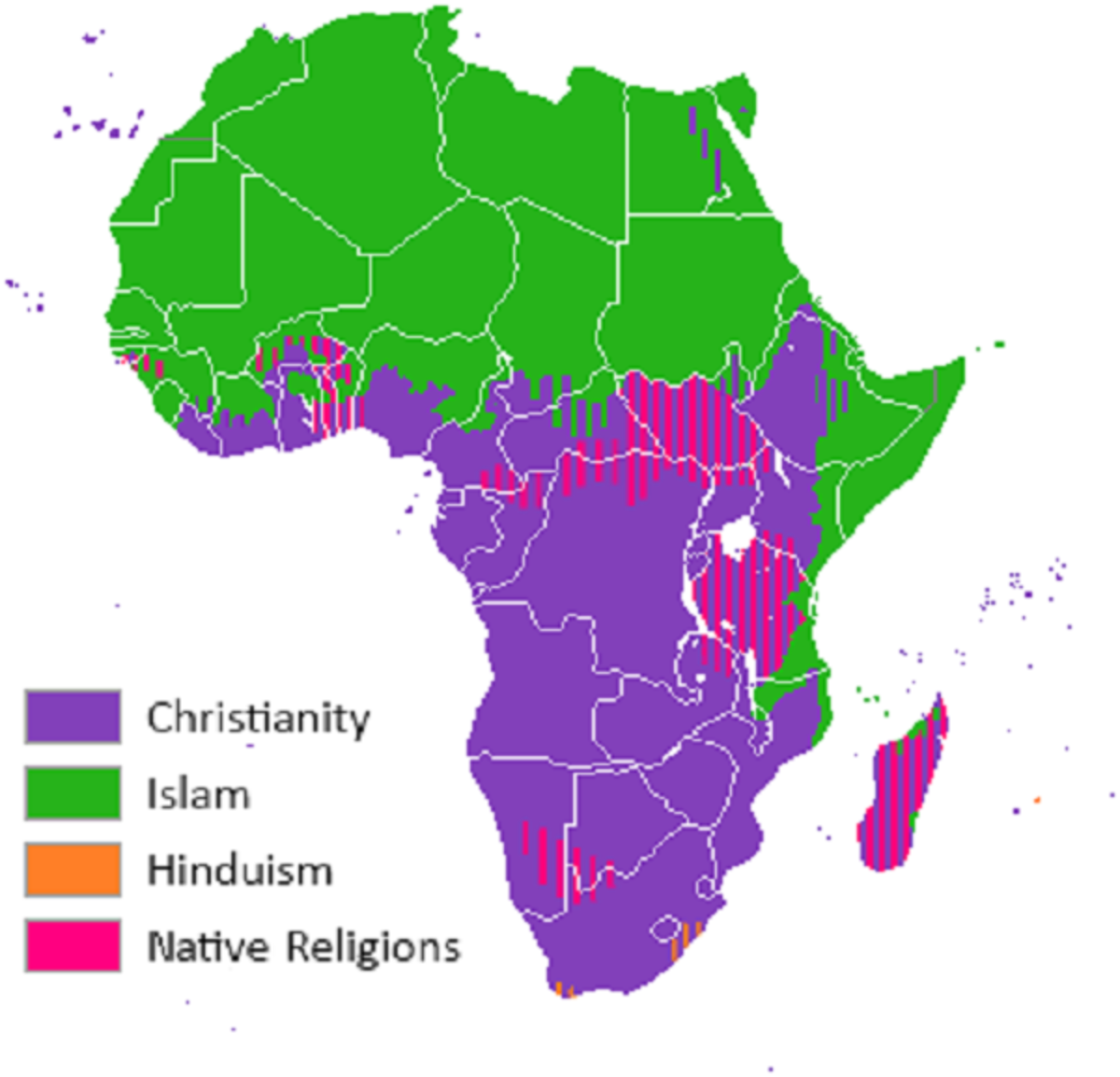 Religious boundaries aren't generally as hard as might be portrayed, since there is always significant undertones of African indigenous religions which influence Christianity and Islam.