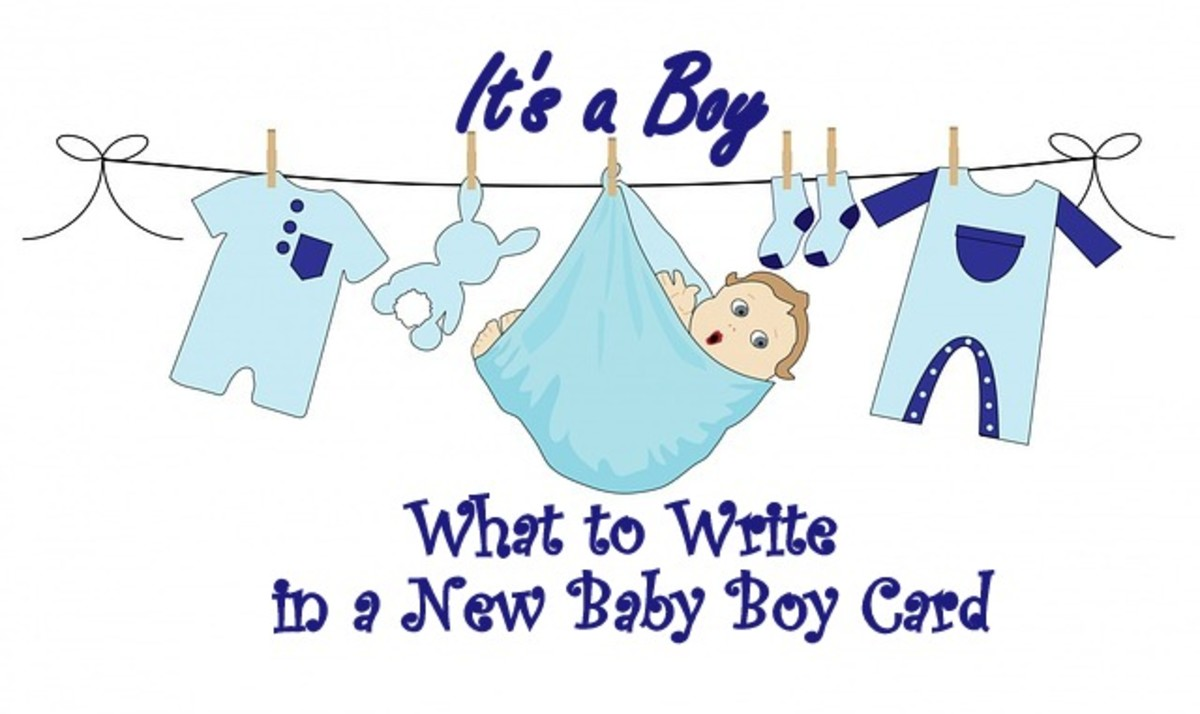 What to write in a new baby boy card