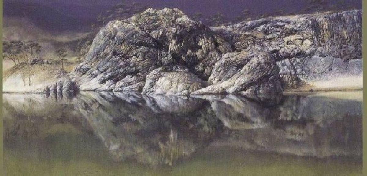 Landscape Rocks Optical Illusion