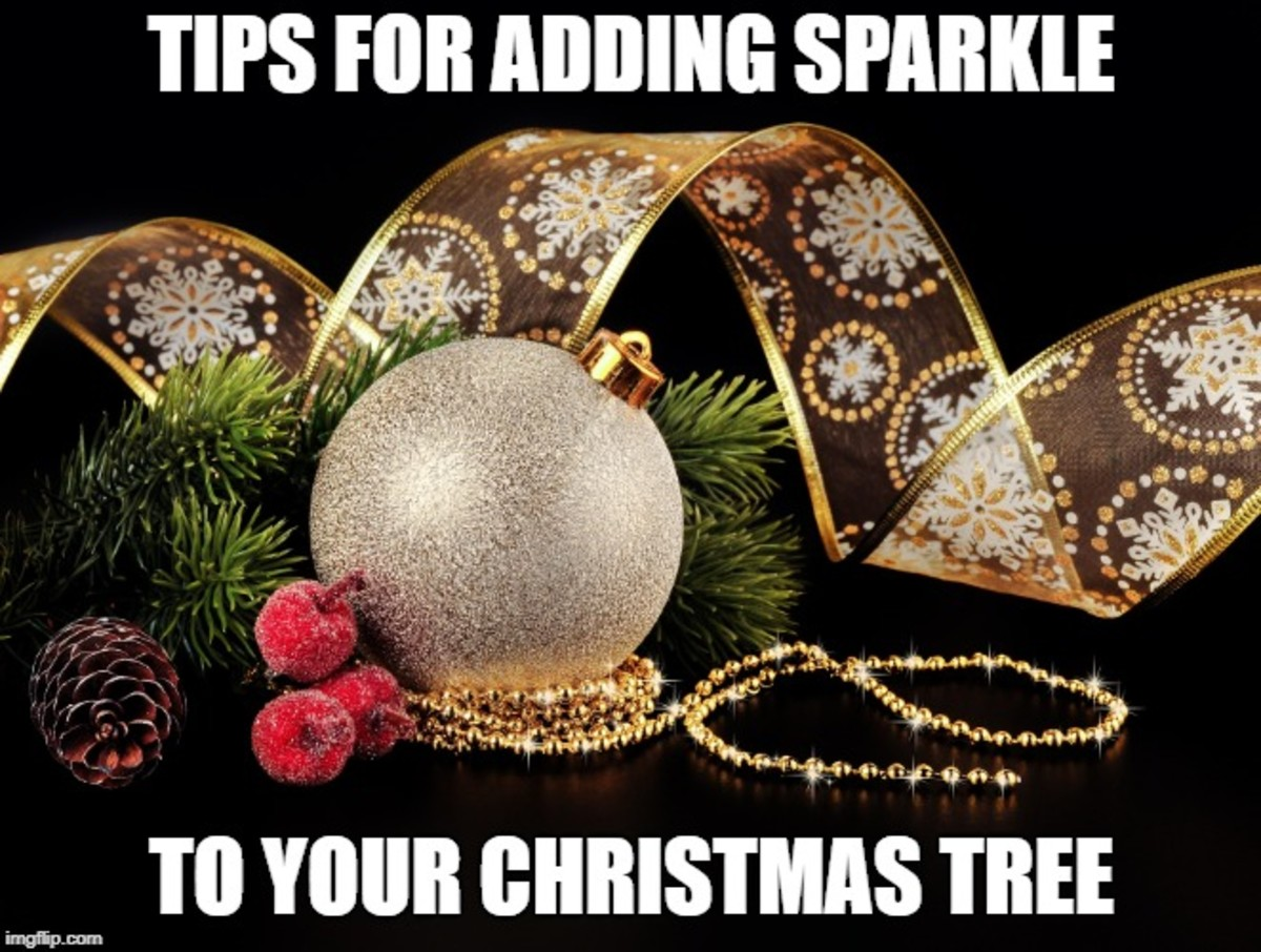 Go for lots of glitter and glamour with a Christmas tree loaded with bling and sparkle. Here are tips for giving your tree that special look.