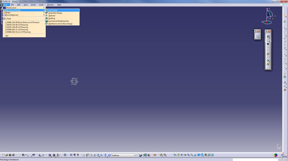Catia V5 Tutorials for Beginners: Catpart: Using the Pad and Pocket Commands