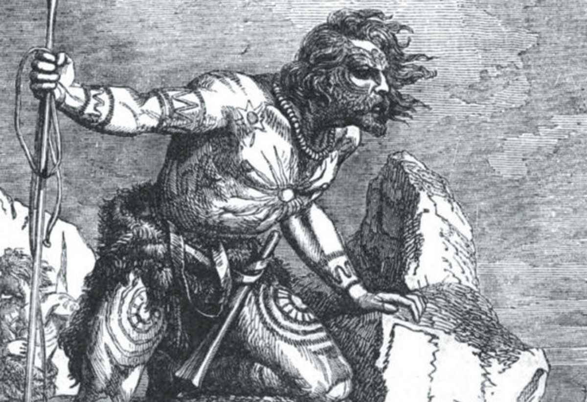A heavily tattooed Pictish warrior - is this what the Romans thought was a painted body?