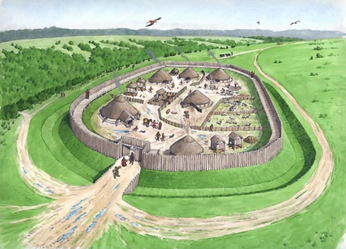 Celtic hill fort - Agricola had them destroyed to to undermine the Caledonians' morale