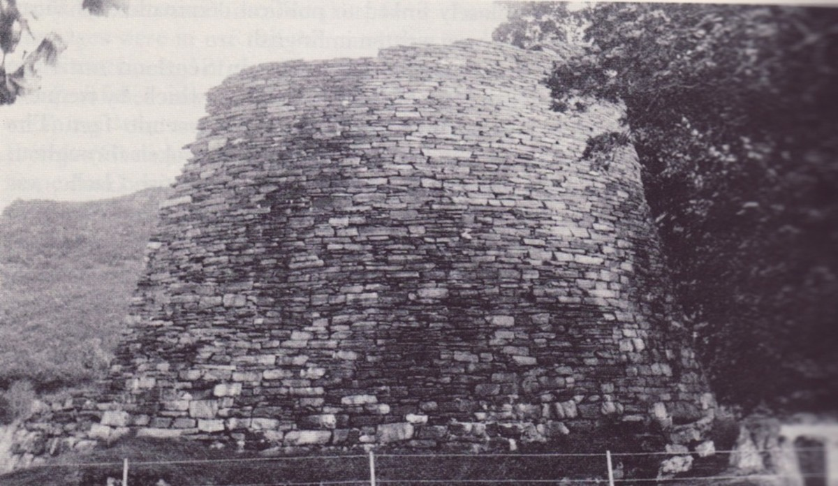Broch structure - found particularly on Orkney and around the far north of the mainland in Pictish territory