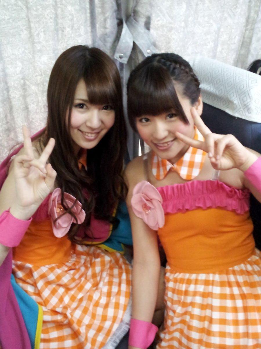 Ayaka Kikuchi (left) with Haruka Nakagawa (right).