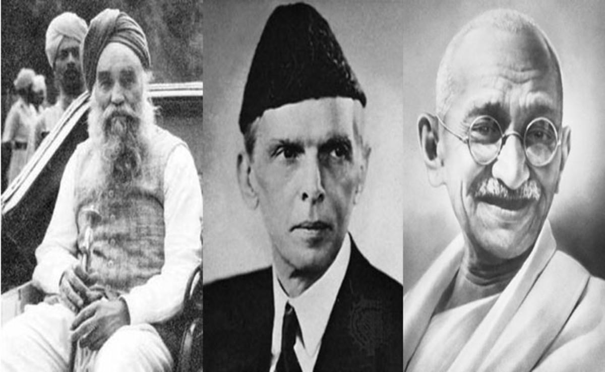 Master Tara Singh Jinnah and Gandhi
