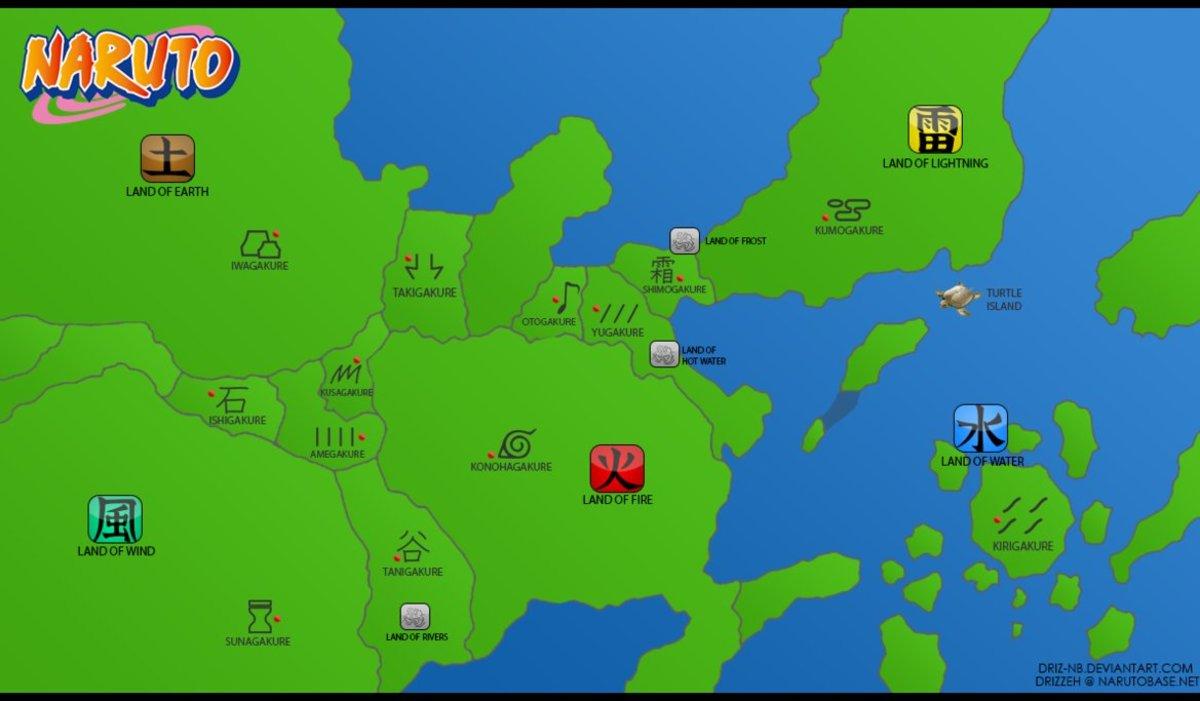 Map of Naruto