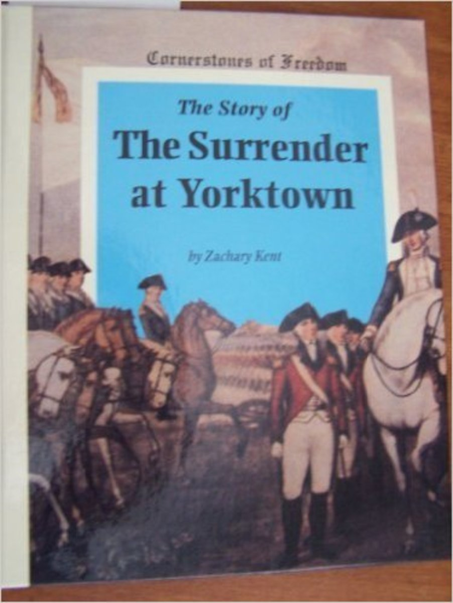 The Story of the Surrender at Yorktown (Cornerstones of Freedom Series) by Zachary Kent is a longer, factual picture book.