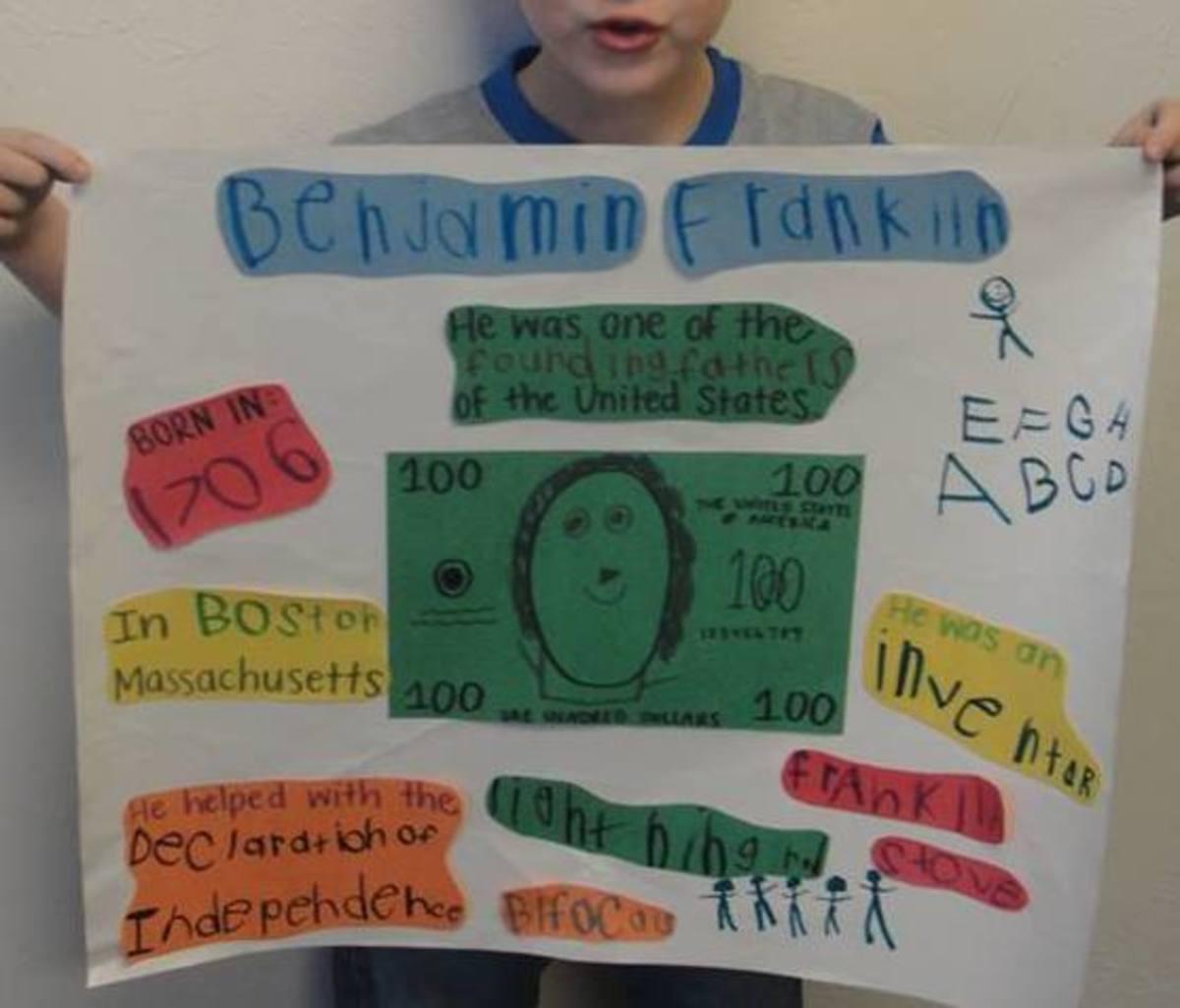 Student presentation on Benjamin Franklin