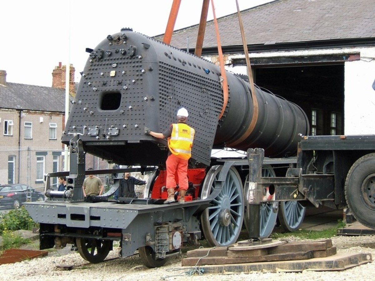 With £500K of sensitive equipment in its harness, the crane lowers the boiler onto its frames