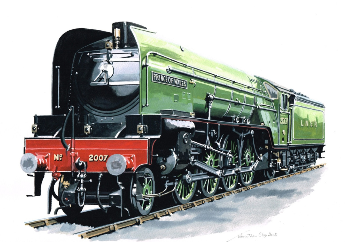 Poster presentation:  2001 artist's impression of the completed Class P2 2007 'Prince of Wales'