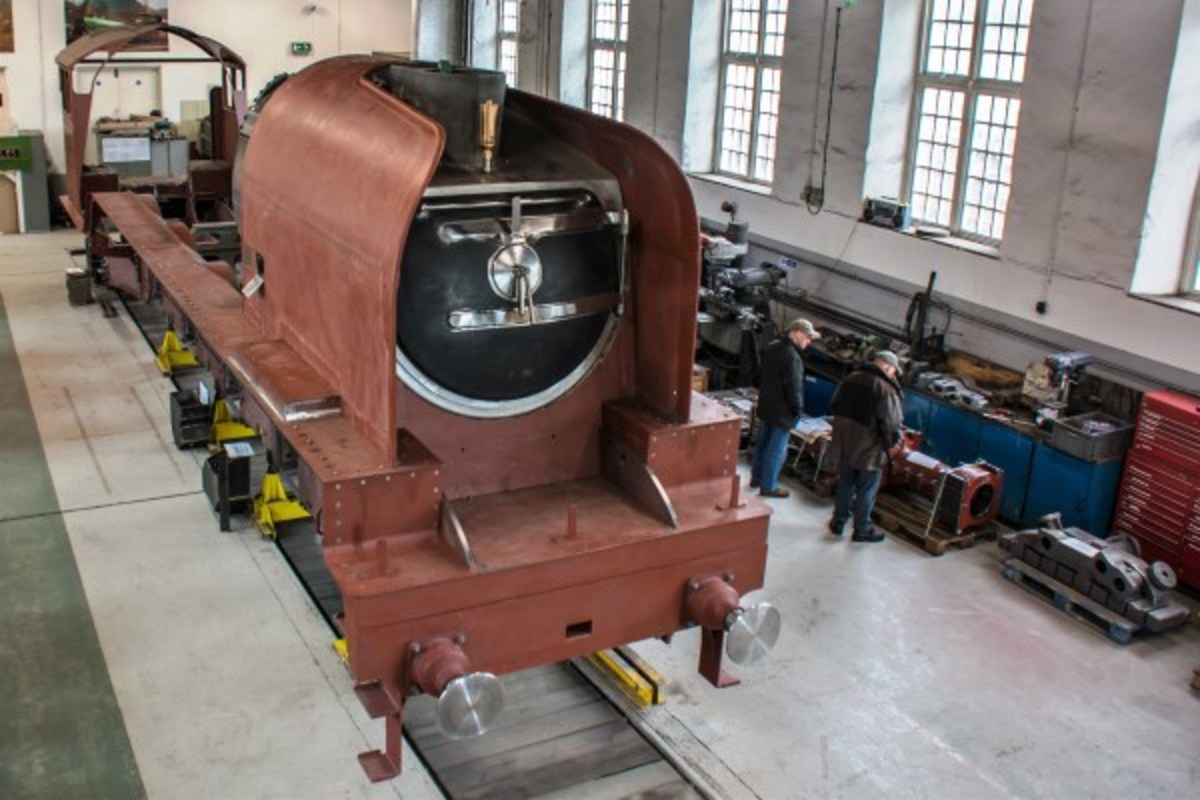 The Class P2 takes shape in Hopetown Works, Darlington