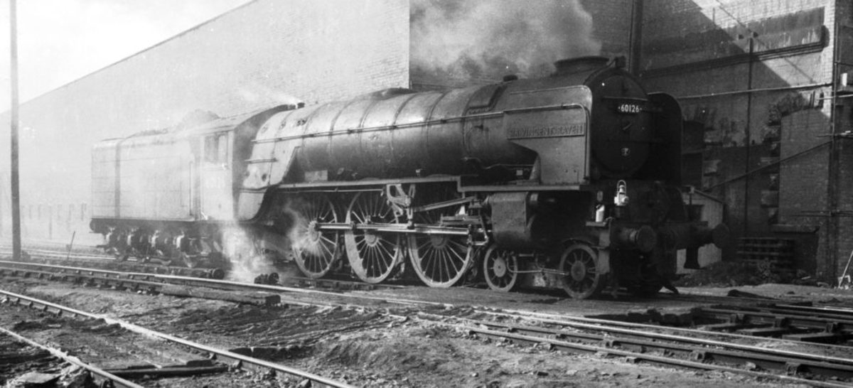 John Arnott-Brown took this powerful shot of 60126 'Sir Vincent Raven' in 1964, a Heaton (Tyneside) 52B allocation from being out-shopped until 1963 when the shed closed to steam. Raven was Locomotive Superintendent of the NER until 'Grouping' , 1923