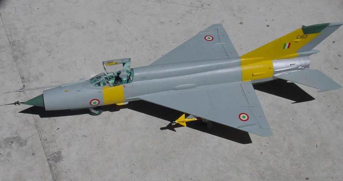 MIG 21 with IAF markings
