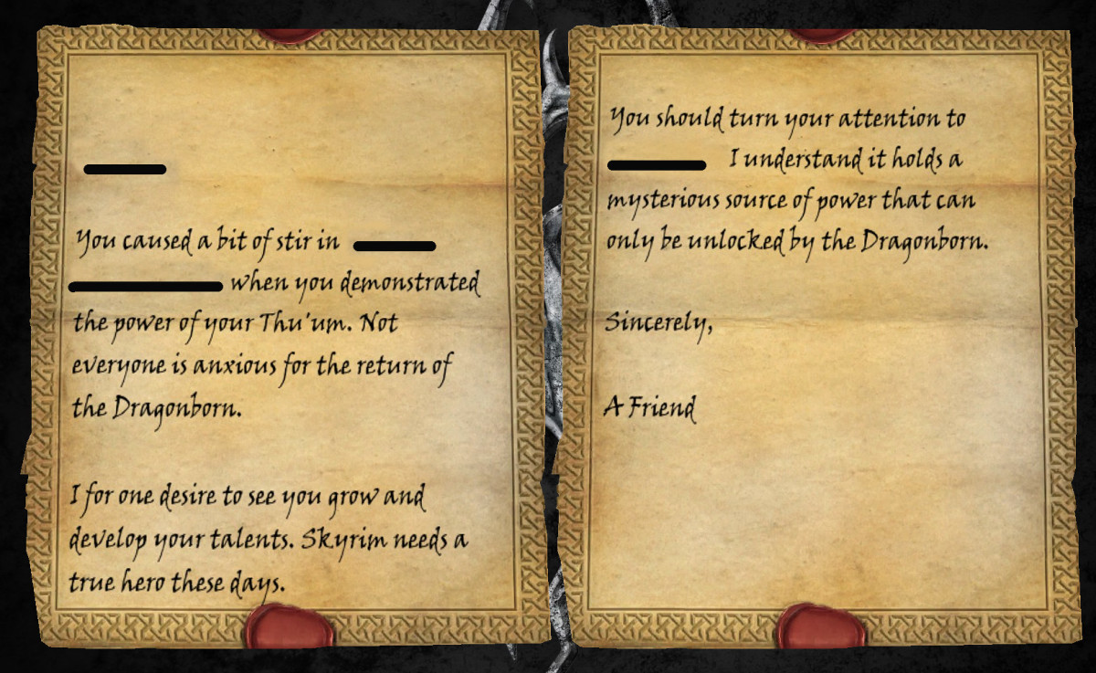 Skyrim : A Letter From A Friend Theories