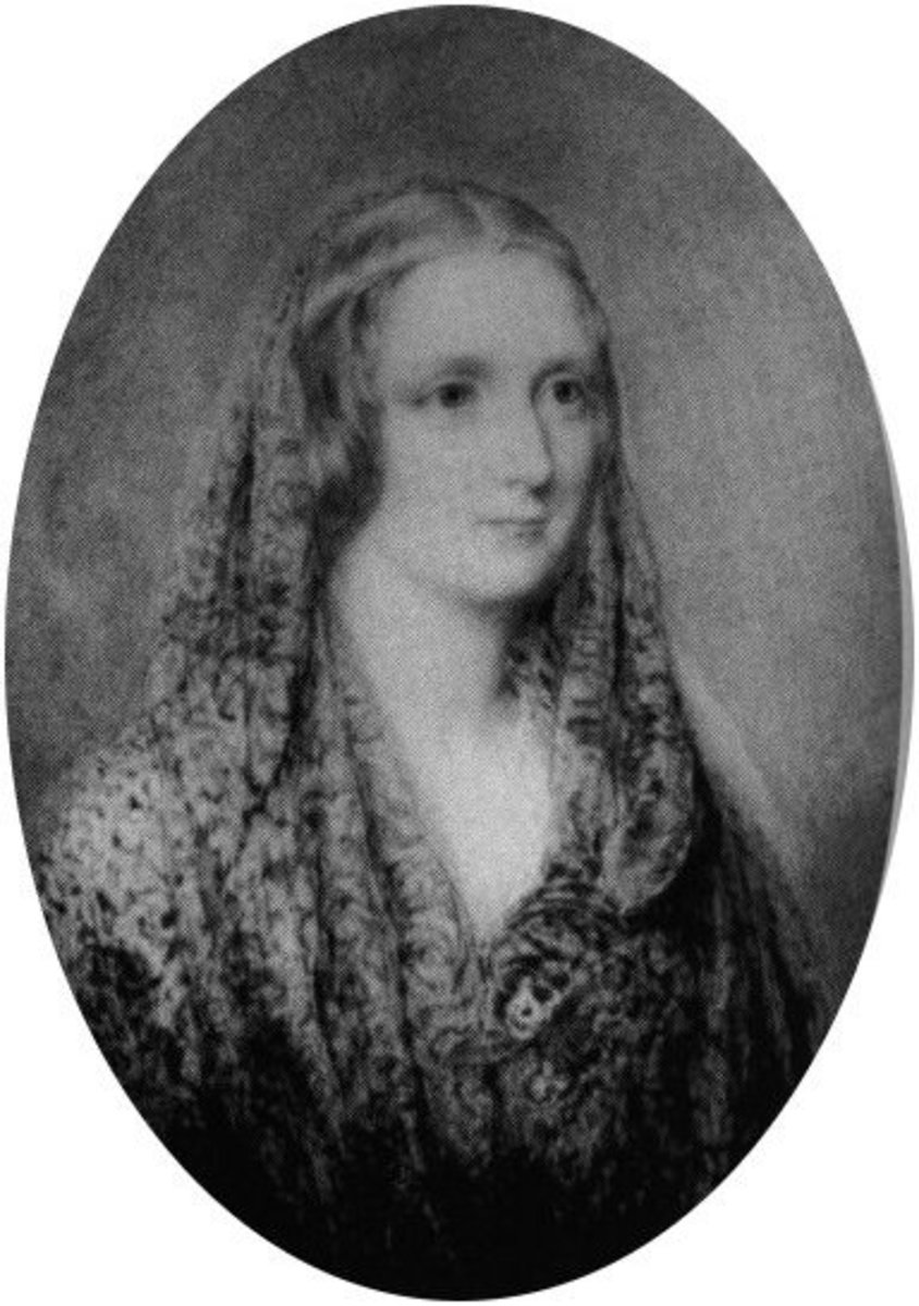 Miniature of Mary Shelley, allegedly drawn from her death mask