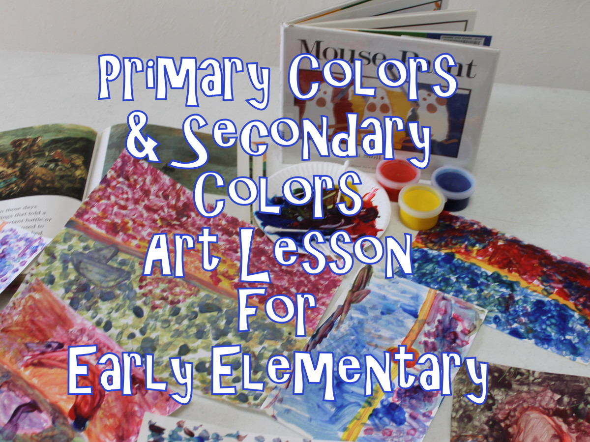 Primary Colors and Secondary Colors Art Lesson for Early Elementary