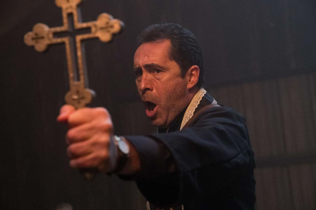 He's got a mean left cross. I used this same caption for the Annabelle Comes Home review. That's how generic this is.