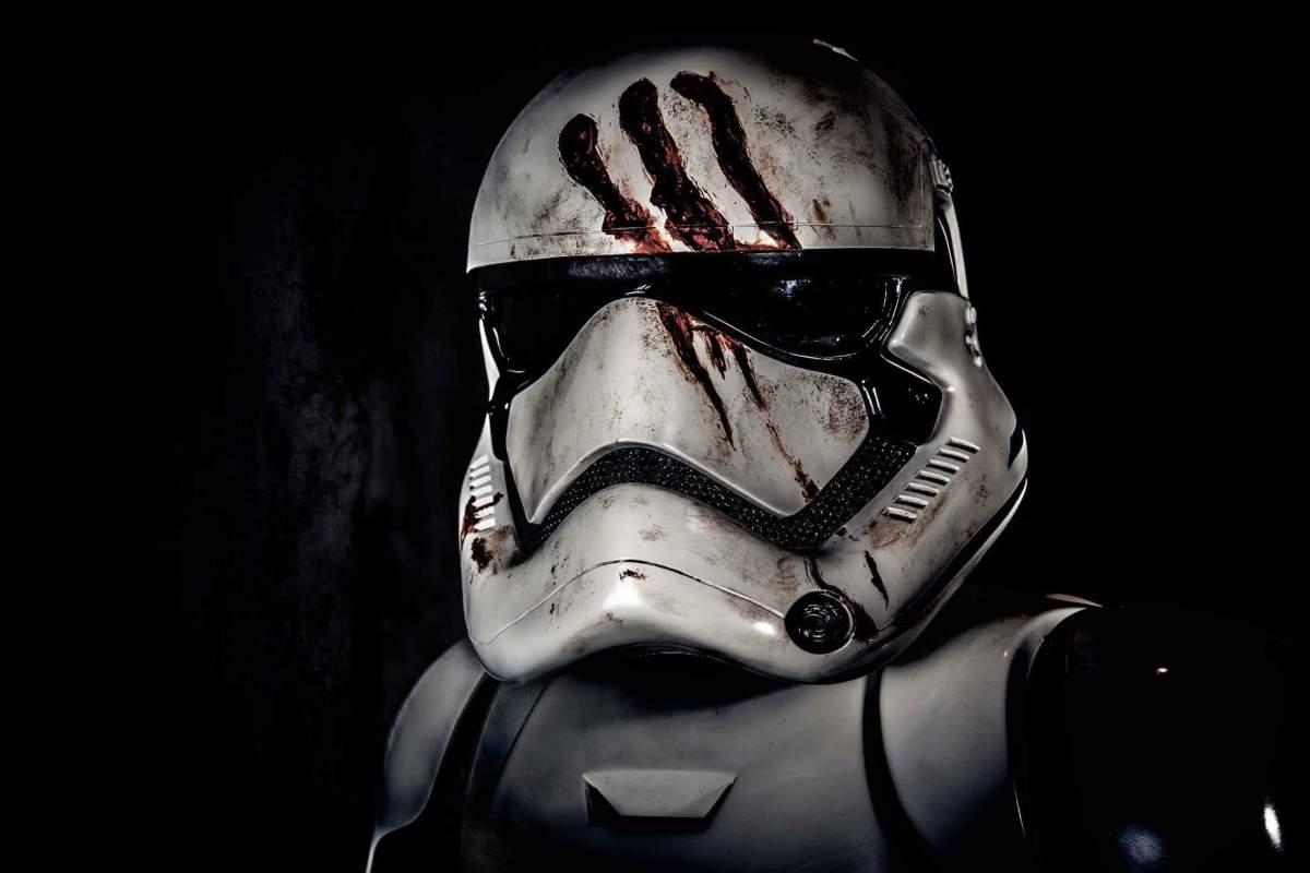 Finn in his stormtrooper armor