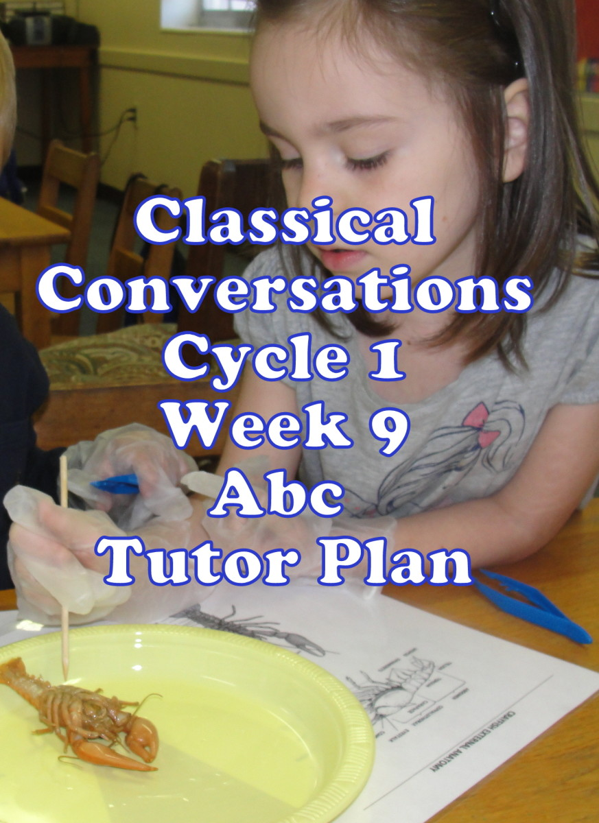 Classical Conversations Cycle 1 Week 9 Abc Tutor Plan - Science Activity: Dissecting a Crayfish