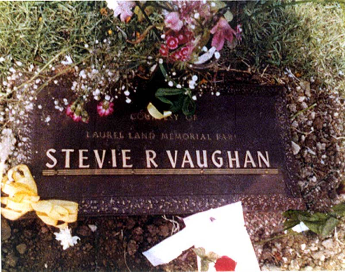 Stevie Ray Vaughan Burial Marker