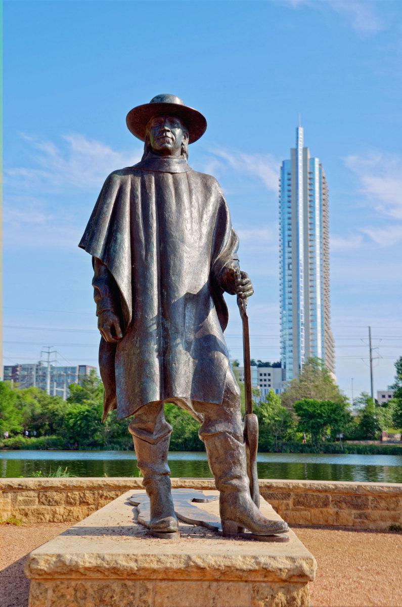 Stevie Ray Vaughan statue at Lady Bird Lake