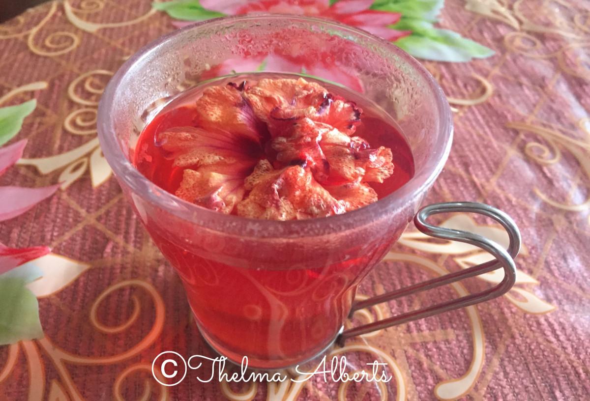 Hibiscus/Gumamela tea.