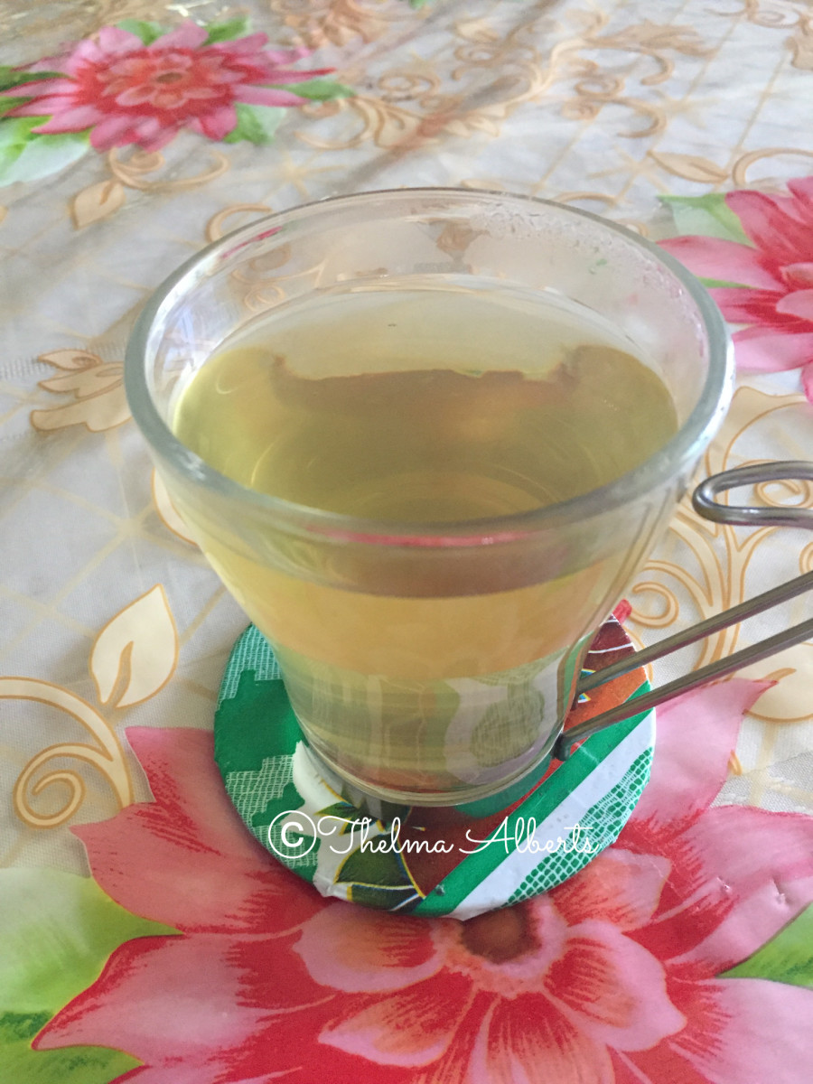 Homemade Guava leaves tea.