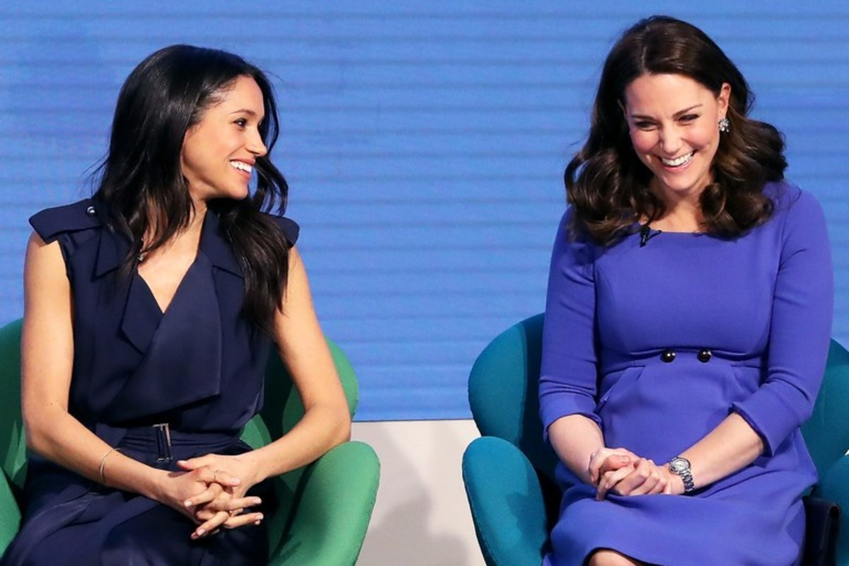 The Duchess of Sussex and the Duchess of Cambridge both in blue