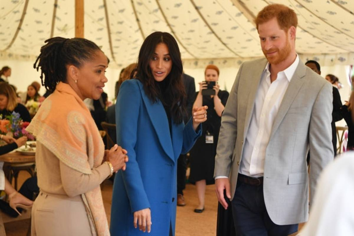 Prince Harry and Meghan's mom Doria Ragland with her at the launch of her cookbook.