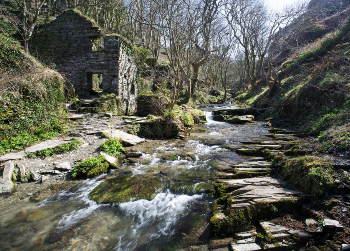 Trewethett Mill located at Rocky Valley near Tintagel, Cornwall