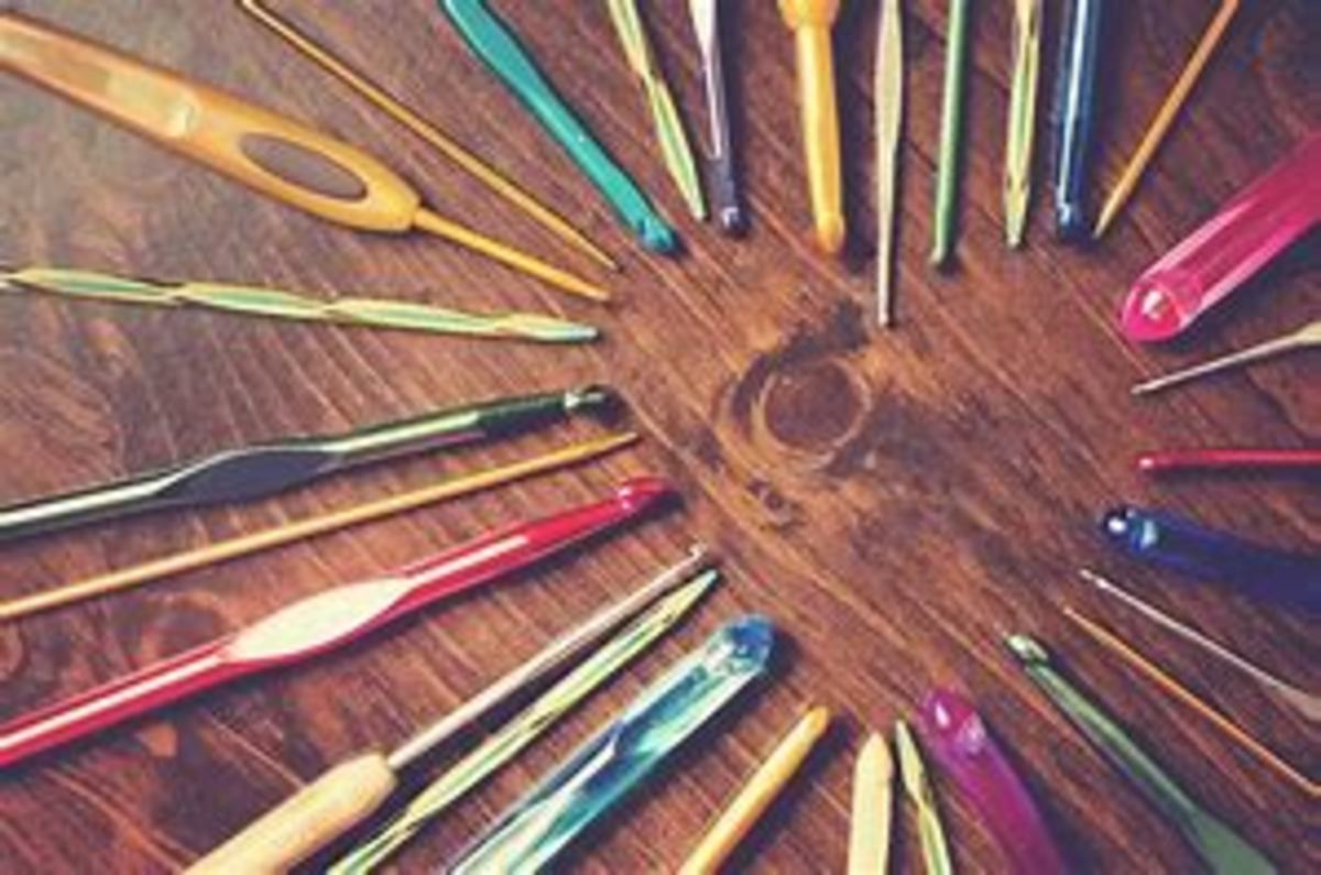 Assorted types of hooks: metal, plastic, ergonomic, steel.